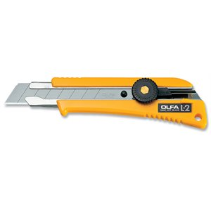5004 OLFA CUTTER L-2 W /  RUBBER HANDLE